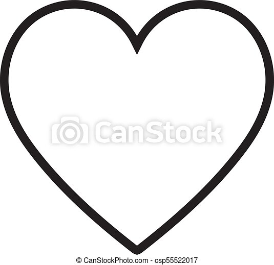 heart icon vector illustration linear symbol with thin vector rh canstockphoto com heart icon vector png heart icon vector image