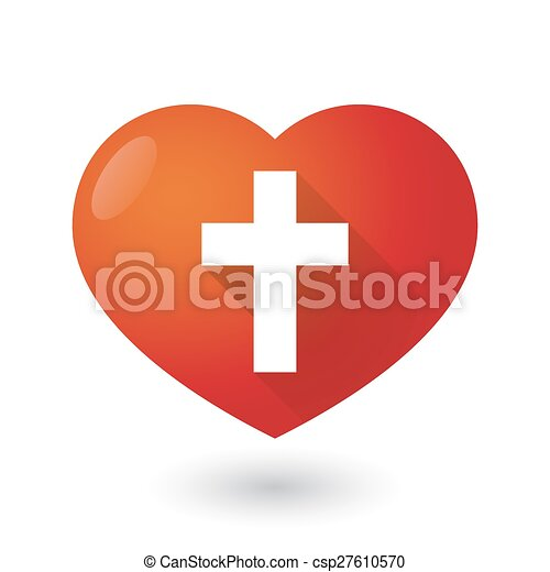 heart icon with a cross illustration of a heart icon with a cross
