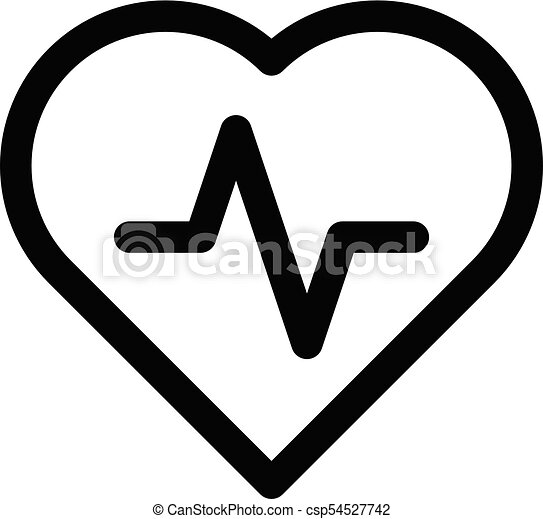Heart Icon With Pulse Line Symbol Of Healthy Lifestyle And Love