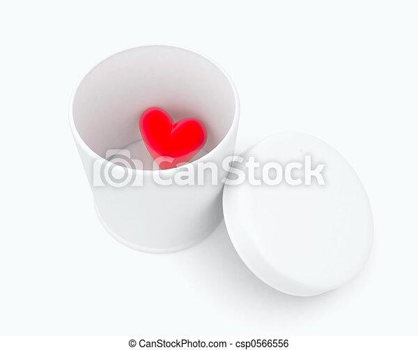 heart in a box - csp0566556