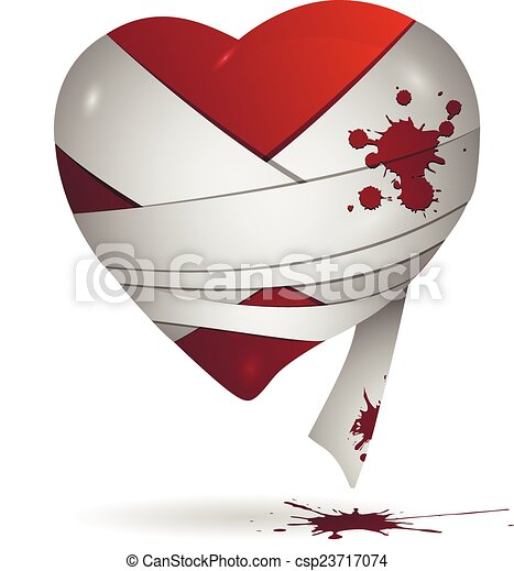 Heart in bandages - csp23717074