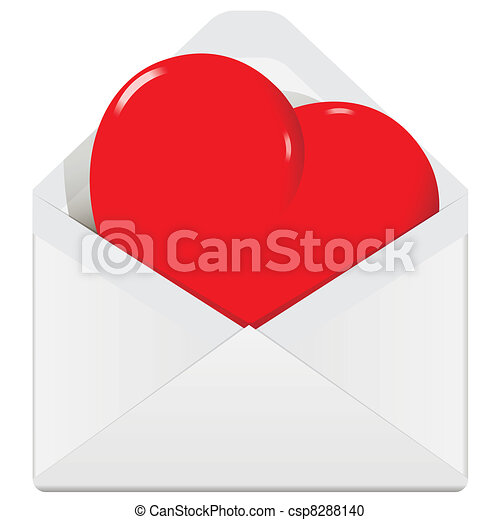 heart in the envelope - csp8288140