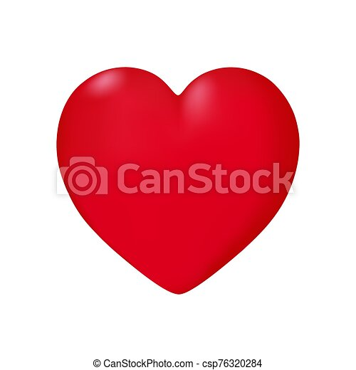 Heart in vector on white background. - csp76320284