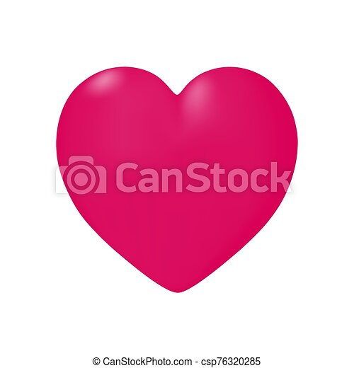 Heart in vector on white background. - csp76320285