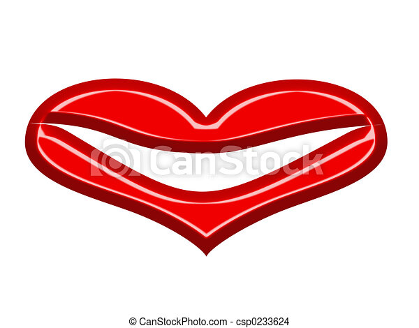 Heart lips - csp0233624