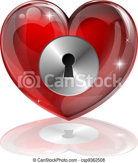 Heart lock - csp9362508
