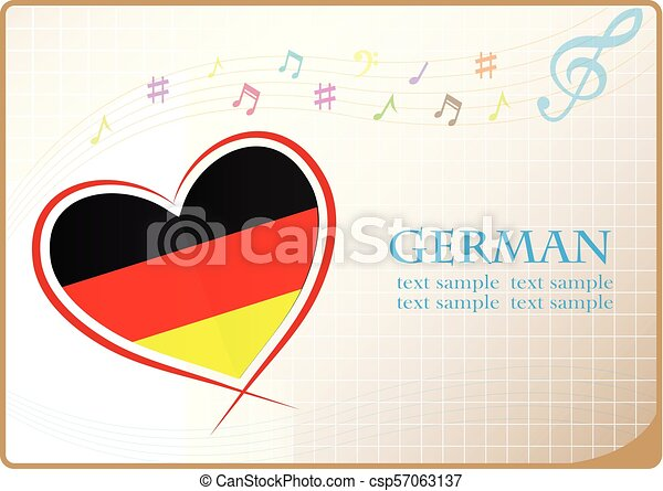 heart logo made from the flag of German - csp57063137
