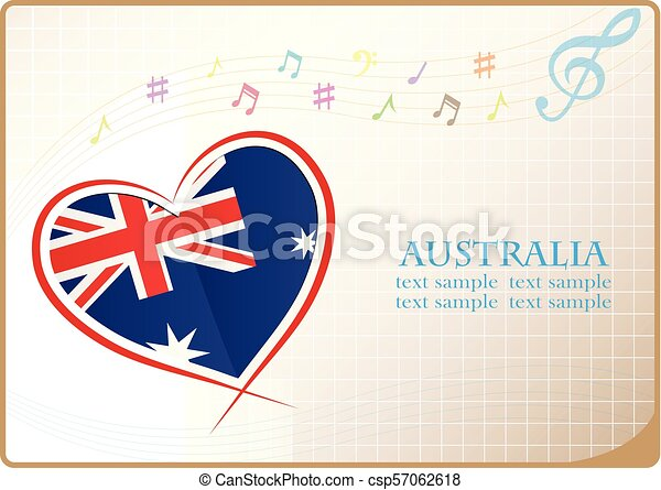 heart logo made from the flag of Australia - csp57062618