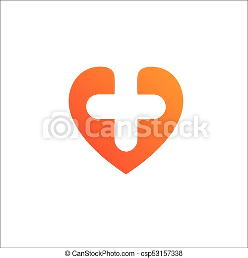 Heart Logo template.Cardiology Medical Health care Logotype concept icon. - csp53157338