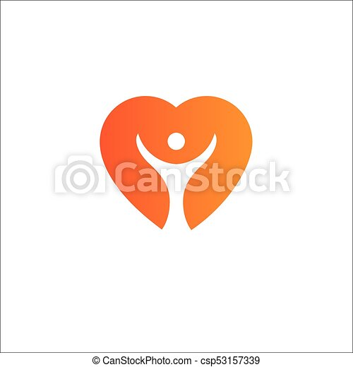 Heart Logo template.Cardiology Medical Health care Logotype concept icon. - csp53157339