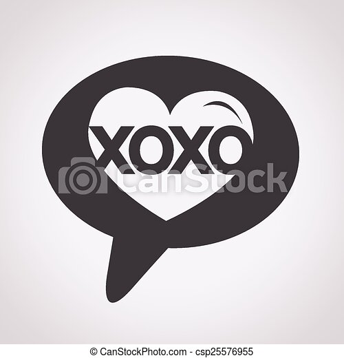 Heart Love Xoxo Valentines Day Illustrations And Typography