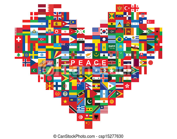 heart made of flags icons - csp15277630