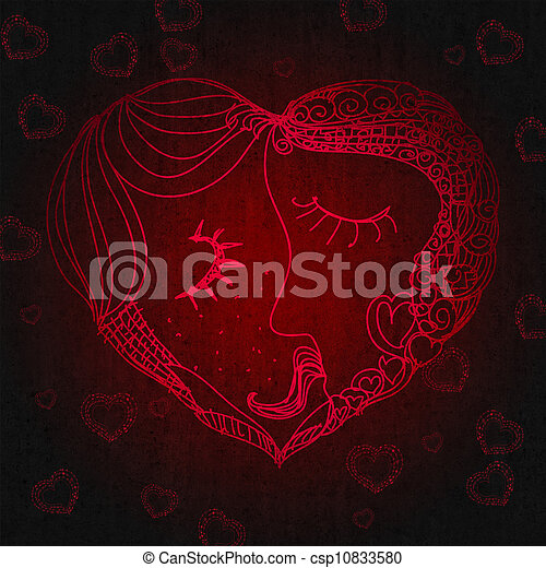 Big Heart Made Of Many Different Heart Symbols