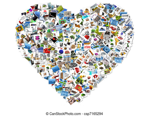 Heart Made Out Of Photos Drawing Search Clip Art