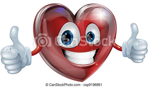 Heart mascot graphic - csp9196861