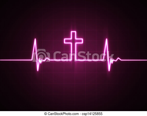 heart monitor, cruz - csp14125855