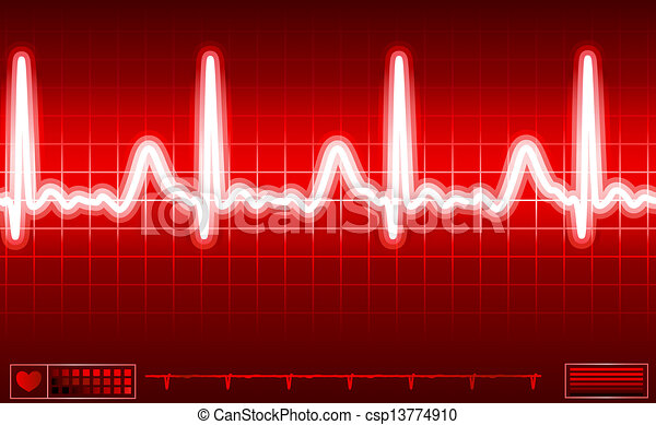 heart monitor screen - csp13774910