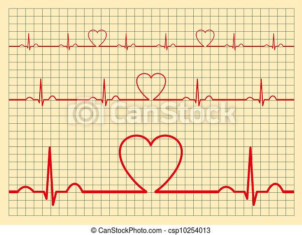 Heart monitor-Vector - csp10254013