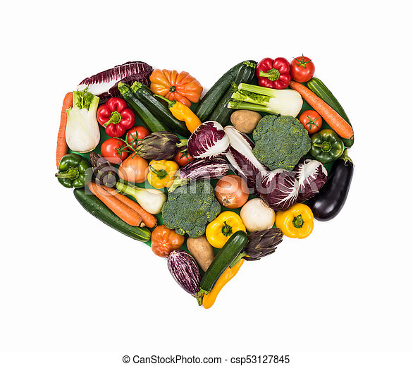Heart of fresh vegetables - csp53127845