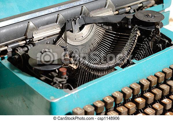 714e2422ecc Heart of typewriter. Fragment of mechanic old typewriter. russian ...