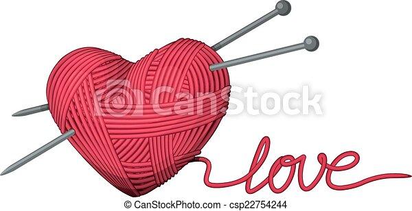 Line Drawing Heart Shape : Heart of yarn shape eps cmyk organized by