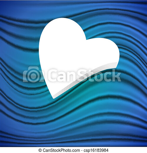 Heart on a blue background - csp16183984