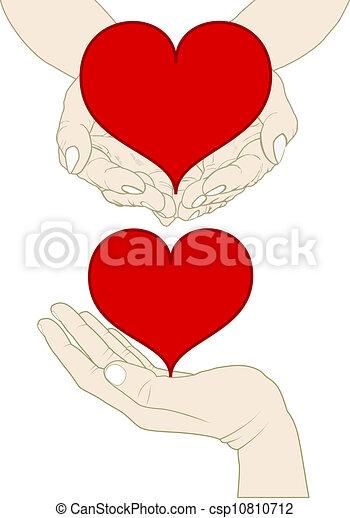 heart on hand - csp10810712