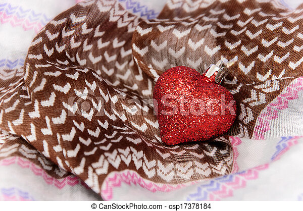 Heart on the textile - csp17378184