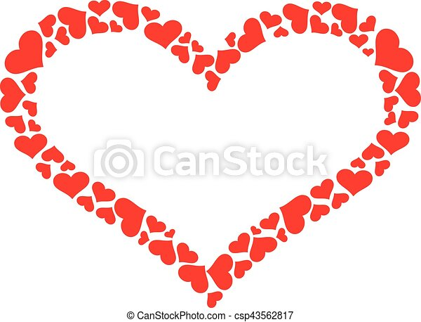 heart outline with hearts vector clip art search illustration rh canstockphoto com heart vector ai heart vector all free download
