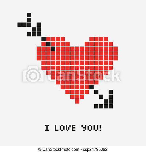 Heart Pixel Illustrations And Stock Art 3181 Heart Pixel