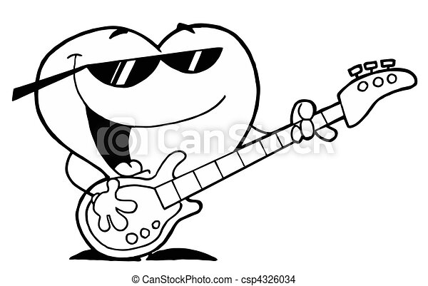 Heart Playing A Guitar And Singing