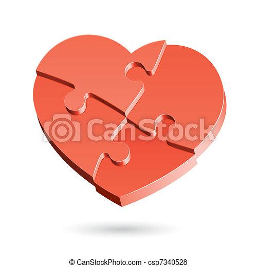 Heart puzzle - csp7340528