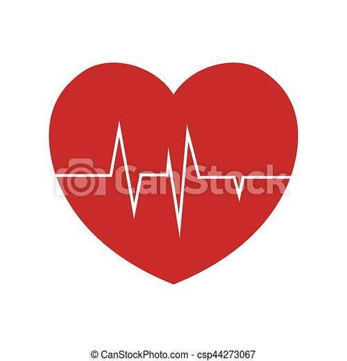 Heart Rate Health Cardiology Symbol