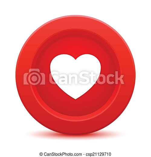 heart red button - csp21129710