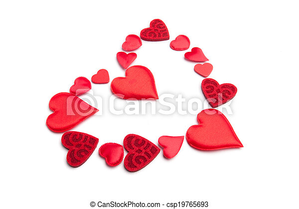 Heart red on white background - csp19765693