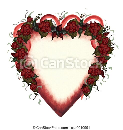 Heart red roses - csp0010991