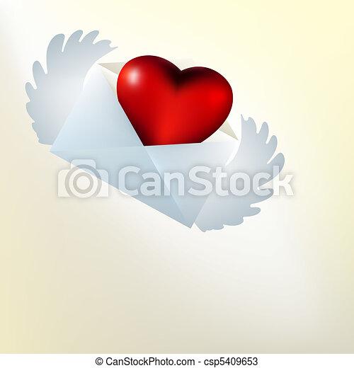 heart., repülés, eps, kedves, pohár, 8, kártya - csp5409653