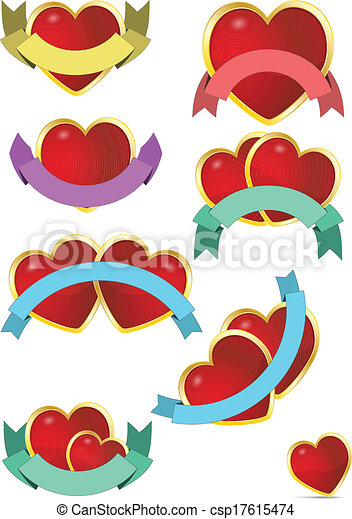 heart ribbon  - csp17615474