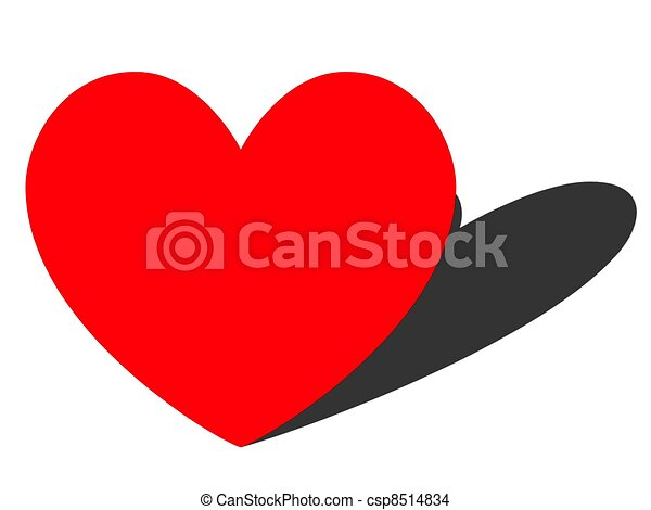 Line Art Love Heart : Heart shadow the of love drawing search clip art