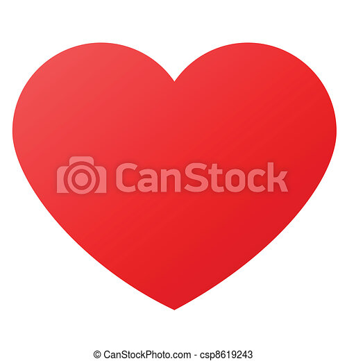 heart shape for love symbols - csp8619243