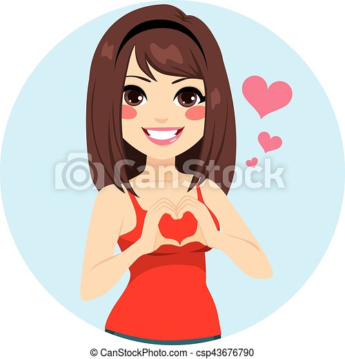 Heart Shape Girl - csp43676790