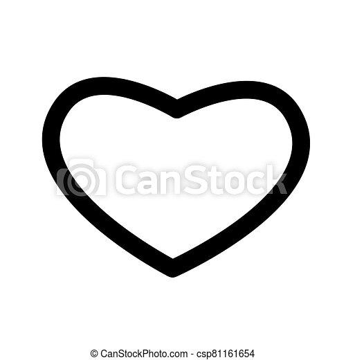 Heart shape icon isolated on white background - csp81161654
