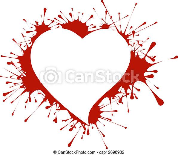 Heart shape in splashes - csp12698932