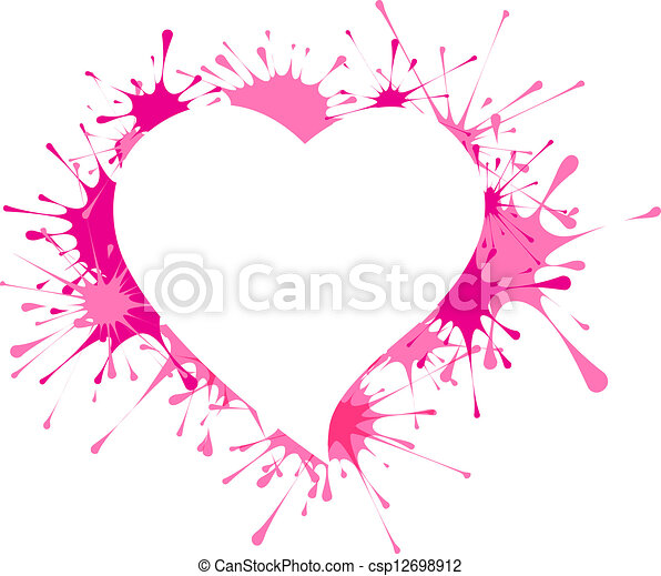 Heart shape in splashes - csp12698912