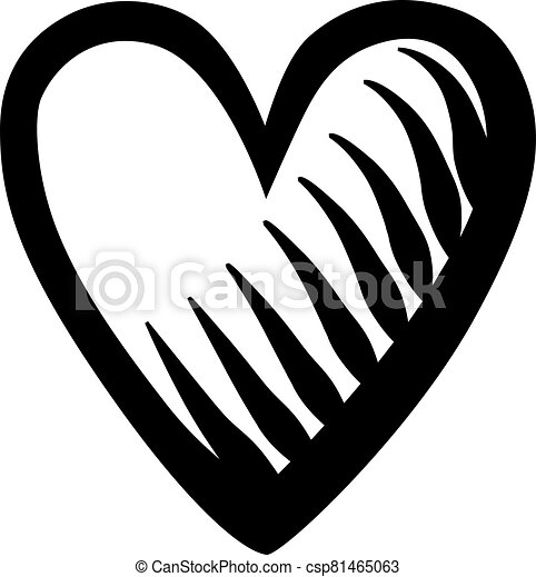 Heart shape isolated on white background - csp81465063