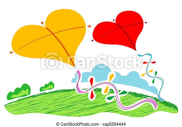 heart shape kites - csp5264444