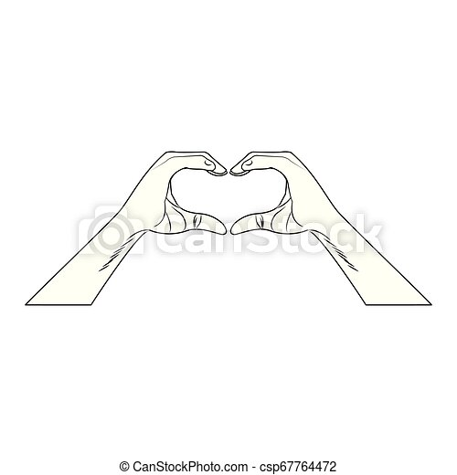 Heart shape lollipop pop art in black and white - csp67764472