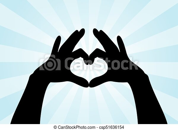 Line Drawing Heart Shape : Heart shape made with hands silhouette clipart vector search
