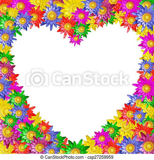 Heart shape of colorful lotus flower on white background heart shape of colorful lotus flower csp27259959 mightylinksfo