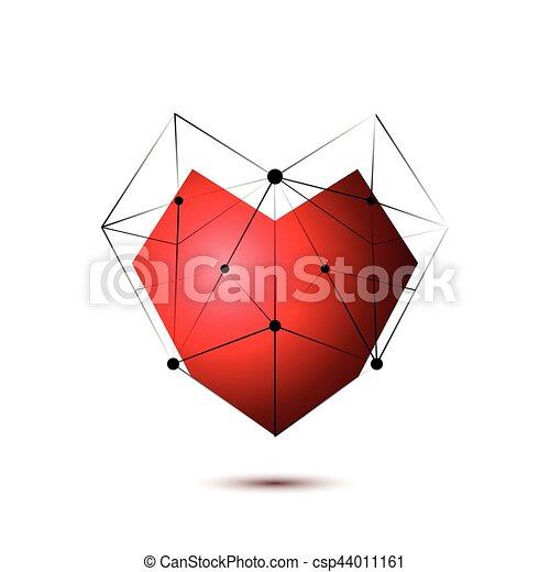 Heart shape symbol isolated on white background - csp44011161